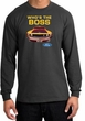 Ford Mustang Boss Long Sleeve Shirt - Who's The Boss 302 Charcoal Tee