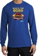 Ford Mustang Boss Long Sleeve Shirt - Who's The Boss 302 Royal T-Shirt