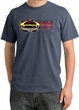 Ford Mustang Boss Pigment Dyed T-Shirt - 302 Mustang Scotland Blue Tee