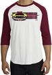 Ford Mustang Boss Raglan Shirt - 302 Yellow Mustang White/Cardinal Tee