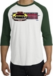 Ford Mustang Boss Raglan Shirt - 302 Yellow Mustang White/Forest Tee