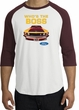 Ford Mustang Boss Raglan Shirt - Who's The Boss 302 Adult White/Maroon