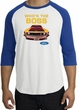 Ford Mustang Boss Raglan Shirt - Who's The Boss 302 Adult White/Royal