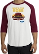 Ford Mustang Boss Raglan Shirt - Who's The Boss 302 White/Cardinal