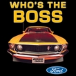Ford Mustang Boss Raglan Shirt - Who's The Boss 302 White/Forest