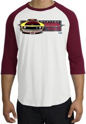 Ford Mustang Boss Raglan Shirts - 302 Yellow Mustang Adult T-Shirts