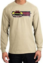 Ford Mustang Boss Shirt 302 Yellow Mustang Long Sleeve Tee
