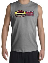 Ford Mustang Boss Shirt 302 Yellow Mustang Muscle Shirt