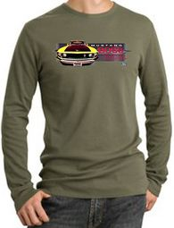 Ford Mustang Boss Shirt 302 Yellow Mustang Thermal Shirt