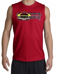 Ford Mustang Boss Shooter Shirt - 302 Yellow Mustang Red Muscle Shirt