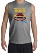 Ford Mustang Boss Shooter Shirt - Who's The Boss 302 Adult Sports Grey