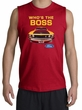 Ford Mustang Boss Shooter Shirt - Who's The Boss 302 Red Muscle Shirt