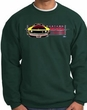 Ford Mustang Boss Sweatshirt - 302 Yellow Mustang Adult Dark Green
