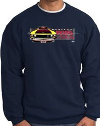 Ford Mustang Boss Sweatshirts - 302 Yellow Mustang Adult Sweat Shirts