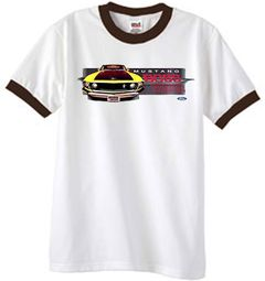 Ford Mustang Boss T-Shirt 302 Yellow Mustang Ringer Shirt