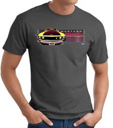 Ford Mustang Boss T-Shirts - 302 Yellow Mustang Adult Tee Shirts
