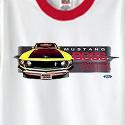 Ford Mustang Boss T-shirts - Yellow Mustang Boss 302