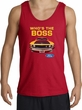 Ford Mustang Boss Tank Top - Who's The Boss 302 Adult Red Tanktop