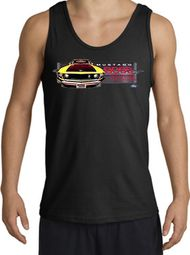 Ford Mustang Boss Tank Tops - 302 Yellow Mustang Adult Tanktops