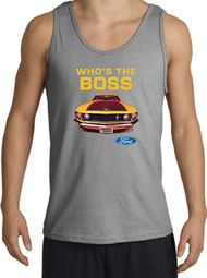 Ford Mustang Boss Tank Tops - Who's The Boss 302 Adult Tanktops