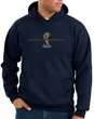 Ford Mustang Cobra Hoodie - Motor Company Grill Adult Navy Hoody