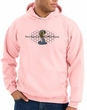 Ford Mustang Cobra Hoodie - Motor Company Grill Adult Pink Hoody