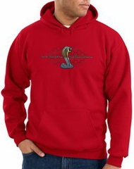 Ford Mustang Cobra Hoodie - Motor Company Grill Adult Red Hoody