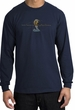 Ford Mustang Cobra Long Sleeve Shirt - Ford Motor Grill Navy T-Shirt
