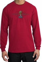 Ford Mustang Cobra Long Sleeve Shirt - Ford Motor Grill Red T-Shirt