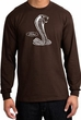 Ford Mustang Cobra Long Sleeve T-Shirt - Adult Brown Shirt