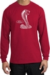 Ford Mustang Cobra Long Sleeve T-Shirt - Adult Red Shirt