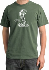 Ford Mustang Cobra Pigment Dyed T-Shirt - Adult Olive Tee