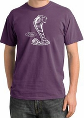 Ford Mustang Cobra Pigment Dyed T-Shirt - Adult Plum Tee
