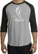 Ford Mustang Cobra Raglan T-shirt - Adult Heather Grey/Black Shirt