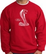 Ford Mustang Cobra Sweatshirt - Adult Red Sweat Shirt