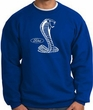 Ford Mustang Cobra Sweatshirt - Adult Royal Sweat Shirt