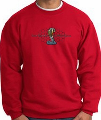 Ford Mustang Cobra Sweatshirt - Ford Motor Company Grill Adult Red