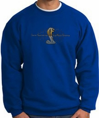 Ford Mustang Cobra Sweatshirt - Ford Motor Company Grill Adult Royal
