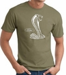 Ford Mustang Cobra T-Shirt - Classic Muscle Car Adult Army Green Tee