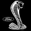 Ford Mustang Cobra T-Shirt - Classic Muscle Car Adult Black Tee