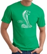 Ford Mustang Cobra T-Shirt - Classic Muscle Car Adult Kelly Green Tee