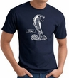 Ford Mustang Cobra T-Shirt - Classic Muscle Car Adult Navy Tee