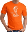 Ford Mustang Cobra T-Shirt - Classic Muscle Car Adult Orange Tee