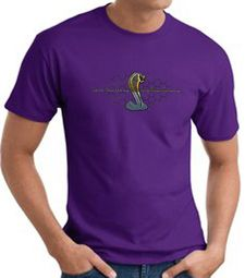 Ford Mustang Cobra T-shirt - Ford Motor Company Grill Purple Tee Shirt