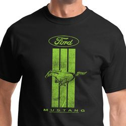 Ford Mustang Green Stripe Shirts