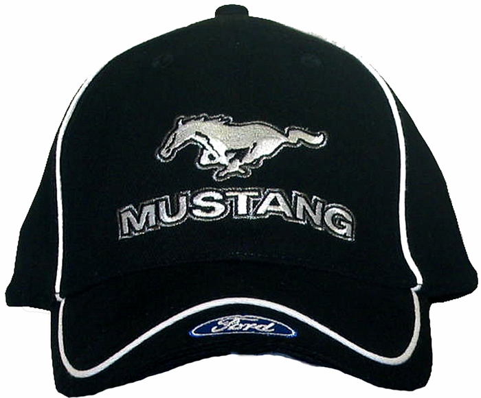 ba3838f00f0e1 Ford Mustang Hat with Ford Logo - Embroidered Cap - Ford Mustang ...