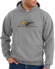 Ford Mustang Hoodie Sweatshirt - Make It My Grill Heather Grey Hoody