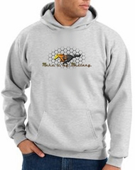 Ford Mustang Hoodie Sweatshirt - Make It My Mustang Grill Ash Hoody