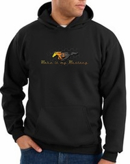 Ford Mustang Hoodie Sweatshirt - Make It My Mustang Grill Black Hoody