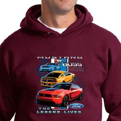 Ford Mustang Hoodie The Legend Lives Hoody
